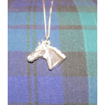 Silver Horse head on chain by Harriet Glen