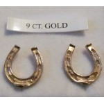 9CT Gold Horse Shoe Earrings